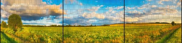 Wiese - Panorama XXL bedruckte Sichtschutzstreifen für Doppelstabmattenzaun
