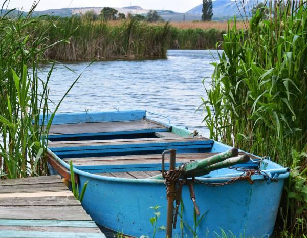 Zaunposter & Gartenposter Fischerboot