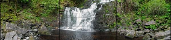Waldwasserfall - Panorama XXL bedruckte Sichtschutzstreifen für Doppelstabmattenzaun