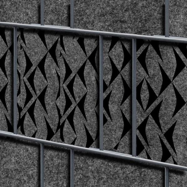 Florenz Fish Einzelstreifen - Dekor Design Vlies Sichtschutz für Zaun