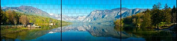 Fjord - Panorama XXL bedruckte Sichtschutzstreifen für Doppelstabmattenzaun