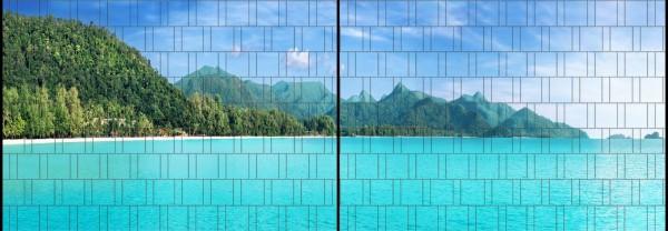 Tropical - Panorama XL bedruckte Sichtschutzstreifen für Doppelstabmattenzaun