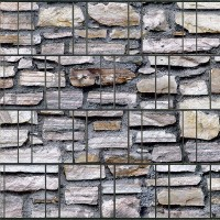 Marmormauer - Bedruckter Sichtschutz Streifen Rolle Doppelstab Zaun