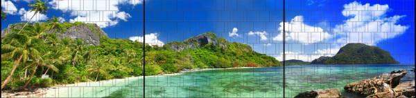 Riff - Panorama XXL bedruckte Sichtschutzstreifen für Doppelstabmattenzaun
