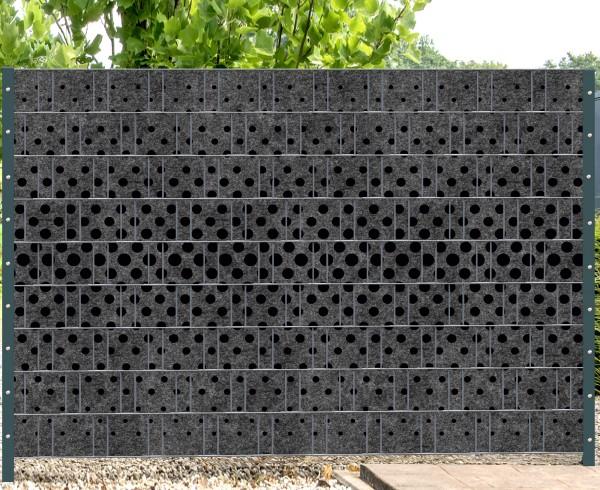 Florenz Tupfen - Melange mit schwarzen Motivdruck