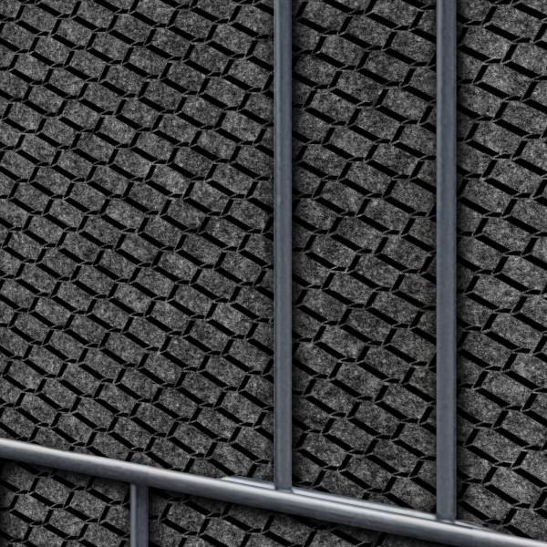 Florenz Brick - Dekor Design Vlies Sichtschutz für Doppelstabmattenzaun